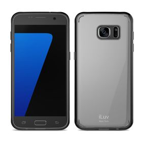iLUV Vyneer Transparent Case Galaxy S7 - Black