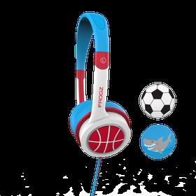 ZAGG Little Rockerz Football Headphones - Red/Blue
