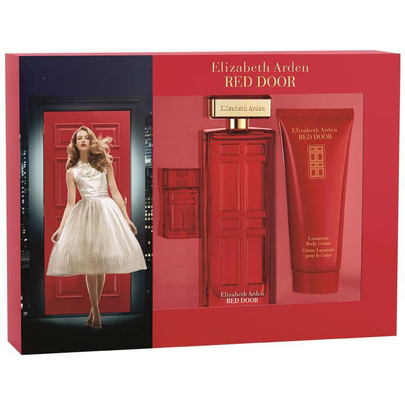 elizabeth arden red door 100ml edt5ml parfum100ml body lotion gift set loading zoom