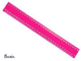 Basix 30cm Ruler - Pink