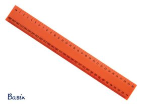 Basix 30cm Ruler - Orange
