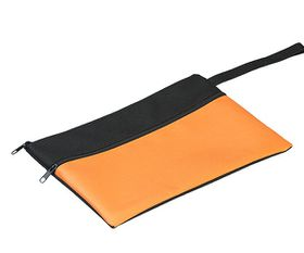 Holbay Pens 25cm Flat Pencil Case - Black/Orange