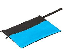 Holbay Pens 25cm Flat Pencil Case - Black/Aqua