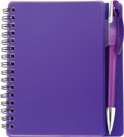 Holbay Pens Plasma A6 Spiral Notebook & Pen - Purple