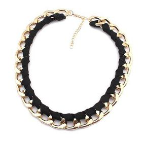 Black and Gold Lace Chain