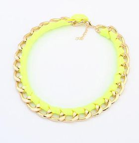 Yellow and Gold Lace Chain