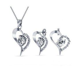 Destiny Heart Earring and Necklace Set with Swarovski Crystals