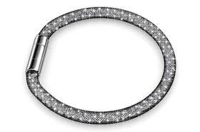 Destiny Black Mesh Bracelet with Swarovski Crystals
