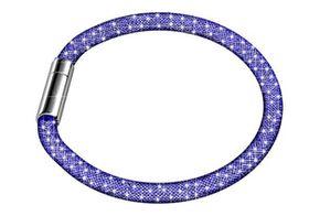 Destiny Blue Mesh Bracelet with Swarovski Crystals