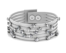 Destiny Twinkling Bit Bracelet with Swarovski Crystals - White