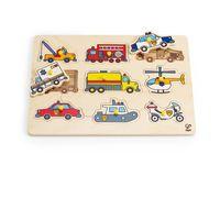 Hape Emergency Vehicles Peg Puzzle