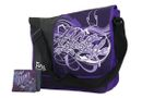 Fino Polyester Messenger / Sling Bag + Griffiti Bifold Wallet Value Pack - Purple (SK-X221 + FZ03)