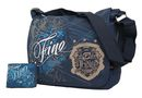 Fino Unisex Canvas Griffiti Messenger / Sling Bag + Griffiti Bifold Wallet Value Pack - Blue (SK-X2559 + FZ03)