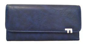 Fino Pu Leather Purse - Navy Blue (1501-765)