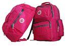 Fino Unisex Waterproof Nylon Duffle Bag + Waterproof Nylon Backpack Value Pack - Pink (SK7716 + SK7718)