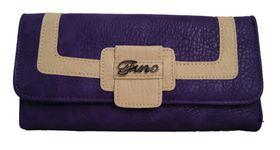 Fino Pu Leather 2 Tone Purse - Purple (G51-765)