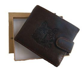 Fino Genuine Leather Wallet with Sim Card Holder (DWS-83071) - Dark Brown