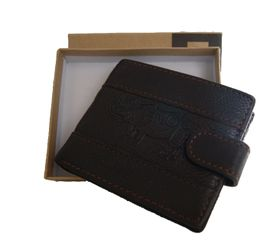 Fino Genuine Leather Wallet  (DWS-1803) - Brown