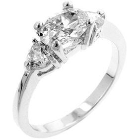 Miss Jewels - 1ctw Cubic Zirconia Engagement Style Costume Ring