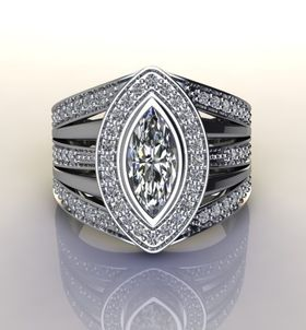 Miss Jewels - CD Designer Jewellery 1.83ctw CZ Dress Ring in 925 Sterling Silver