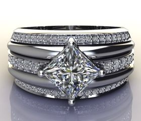 Miss Jewels - CD Designer Jewellery 1.98ctw CZ Dress Ring in 925 Sterling Silver
