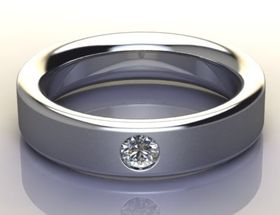 Miss Jewels - CD Designer Jewellery 0.17ctw 8 gram Wedding Band in 925 Sterling Silver