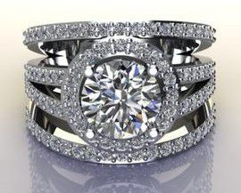 Miss Jewels - CD Designer Jewellery 2.65ctw CZ Dress Ring in 925 Sterling Silver