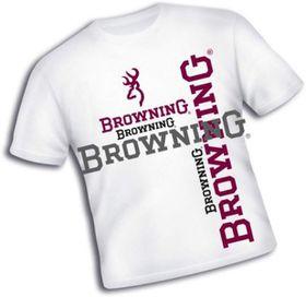 Browning Cotton T-Shirt - White