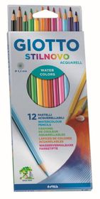 Giotto Stilnovo Aquarelle 12 Coloured Pencils