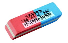 Lyra India Rubber Eraser Red/Blue