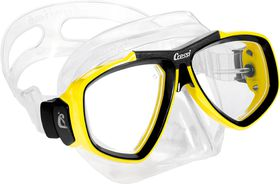Cressi Focus Clear & Yellow Diving Mask