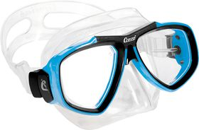 Cressi Focus Clear & Blue Diving Mask