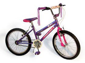 "20"" BMX Girls Flower Power Bike - Purple"