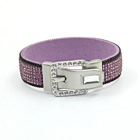 Skyla Jewels Silver Buckle Violet Rhinestone Bracelet