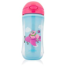 Dr.Brown's - On-The-Go Straw Sport Cup - Girl Squirrel Pilot- 300 Ml