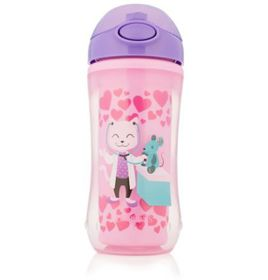 Dr.Brown's - On-The-Go Straw Sport Cup - Girl Dr. Kitty - 300 Ml