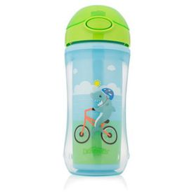 Dr.Brown's - On-The-Go Straw Sport Cup - Boy Shark Bicycle - 300 Ml