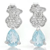 Eanraic's 0.80cts Genuine Topaz and Diamond Earrings