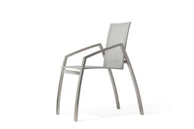 Todus - Stainless steel 2MD Armchair - Grey and White