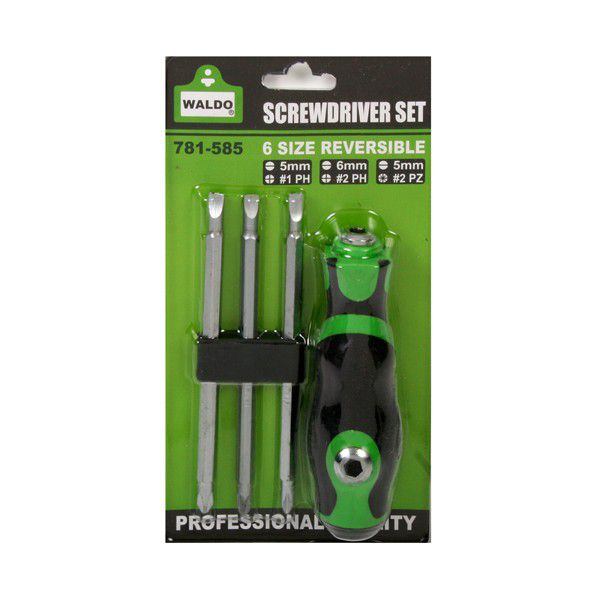 waldo all in one multi bit reversible screwdriver set 6 sizes buy online in south africa. Black Bedroom Furniture Sets. Home Design Ideas