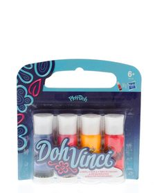 Play Doh Doh Vinci Deco Pop 4 Pack Refill - Blue, Red, Pink and Orange