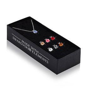 The Gem Seller - Set of Seven Round  Crystal Pendant with  Swarovski Elements