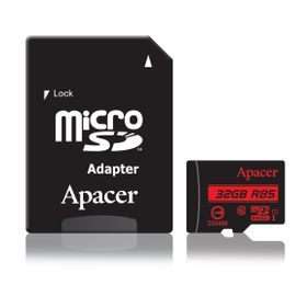 Apacer 32GB MicroSDHC UHS-I (U1) Card with Adaptor - Class 10 (R85 MB/S)