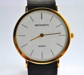 Way North Watches:  Gold Line - Black Gold