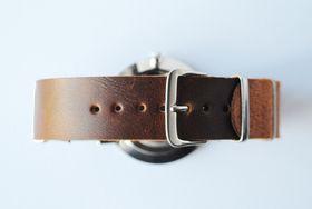 Way North watch straps:  Classic Strap - Chestnut
