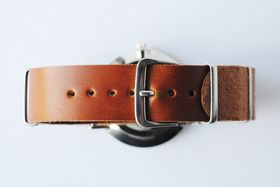 Way North watch straps:  Classic Strap - Tan