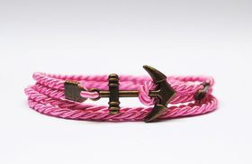 Way North Pink Anchor Bracelet