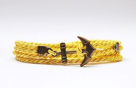 Way North Yellowish Anchor Bracelet