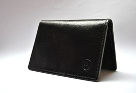 Way North Black Leather Card Holder