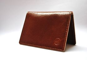 Way North Brown Leather Card holder